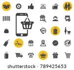 online shopping vector icon on...