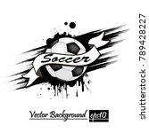 banner the inscription soccer... | Shutterstock .eps vector #789428227