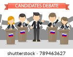 candidates debates in russia... | Shutterstock .eps vector #789463627