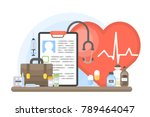 cardiology concept illustration.... | Shutterstock .eps vector #789464047