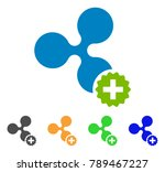 create ripple icon. vector... | Shutterstock .eps vector #789467227