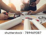 engineer and architect concept  ... | Shutterstock . vector #789469387