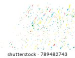 colorful confetti isolated on... | Shutterstock .eps vector #789482743