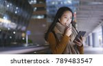 woman talking on cellphone with ... | Shutterstock . vector #789483547