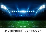 american football arena field... | Shutterstock .eps vector #789487387