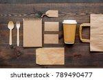 craft paper color set. paper... | Shutterstock . vector #789490477