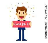 vector stock of a businessman... | Shutterstock .eps vector #789495037