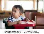 alone baby boy at cafe | Shutterstock . vector #789498067
