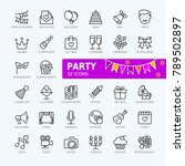 party elements   minimal thin... | Shutterstock .eps vector #789502897