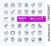 party  birthday  celebration... | Shutterstock .eps vector #789502897