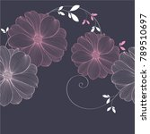 cute wedding invitation with... | Shutterstock .eps vector #789510697
