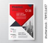 red color business flyer... | Shutterstock .eps vector #789511657