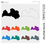 latvia high detailed map.... | Shutterstock .eps vector #789517123