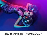 sexy disco party woman.... | Shutterstock . vector #789520207