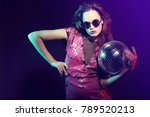 sexy disco party woman.... | Shutterstock . vector #789520213