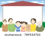 family and my home frame | Shutterstock .eps vector #789534703