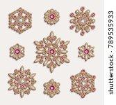 elegant jewelry pendants ... | Shutterstock .eps vector #789535933