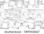 light futuristic circuit on... | Shutterstock . vector #789543067
