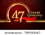forty seven years birthday... | Shutterstock .eps vector #789545467