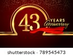 forty three years birthday... | Shutterstock .eps vector #789545473