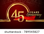 forty five years birthday... | Shutterstock .eps vector #789545827