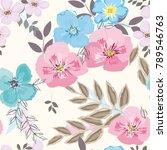 abstract flower seamless... | Shutterstock .eps vector #789546763