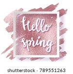 metal gold rose frame  ... | Shutterstock .eps vector #789551263