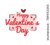 happy valentines day | Shutterstock .eps vector #789552343