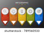 infographic arrow template for... | Shutterstock .eps vector #789560533