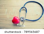 red rubber heart and...   Shutterstock . vector #789565687