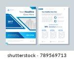 annual report  broshure  flyer  ... | Shutterstock .eps vector #789569713