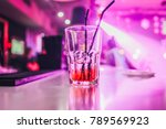 glass with cocktail   booze in... | Shutterstock . vector #789569923