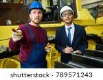 confident mixed race inspector... | Shutterstock . vector #789571243