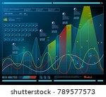 data analysis  visualization... | Shutterstock .eps vector #789577573
