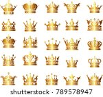 golden crown collection | Shutterstock .eps vector #789578947