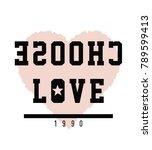 stylish trendy slogan tee t...   Shutterstock .eps vector #789599413