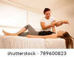 physiotherapy  therapist... | Shutterstock . vector #789600823