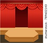 open theater scene with red...   Shutterstock .eps vector #789602143