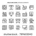 design elements  bold line... | Shutterstock .eps vector #789603043