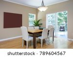 dining room setting leading to... | Shutterstock . vector #789604567