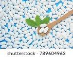 herbal pills with healthy... | Shutterstock . vector #789604963