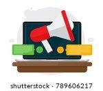 digital advertising and digital ... | Shutterstock .eps vector #789606217