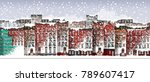 vector art frozen city scene.... | Shutterstock .eps vector #789607417