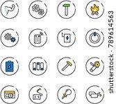 line vector icon set   power...   Shutterstock .eps vector #789614563