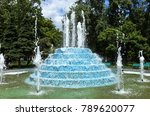 city fountain. fountain in city ...   Shutterstock . vector #789620077