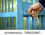 police officers locks the door... | Shutterstock . vector #789621847