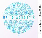 mri diagnostics concept in... | Shutterstock .eps vector #789645187