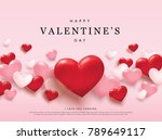 happy valentine's day romance... | Shutterstock .eps vector #789649117