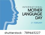 international mother language... | Shutterstock .eps vector #789665227