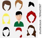 haircuts of woman avatar ... | Shutterstock .eps vector #789665587